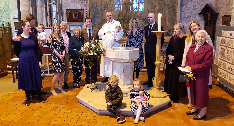 christening celebration in benefice of Winchelsea with Icklesham